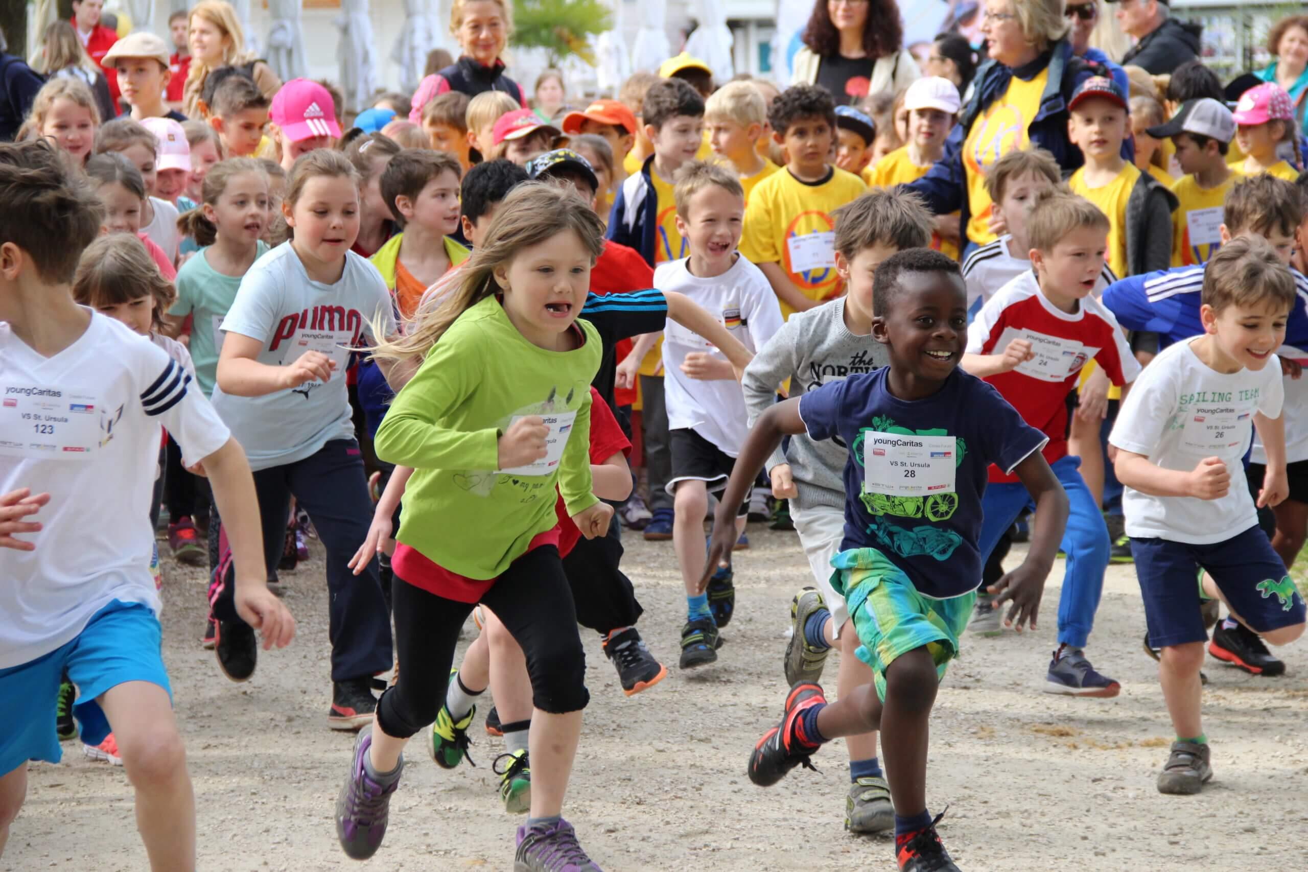 Kinder starten beim LaufWunder so richtig los